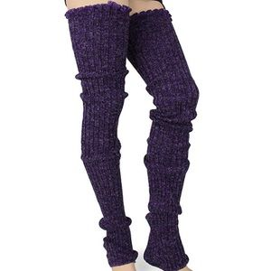 Dark purple otk leg warmers socks sexy dancer new